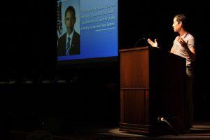 photo: Kei Koizumi speaks at inaugural OTI